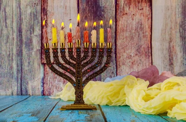 Symbole hannukah żydowskiego święta