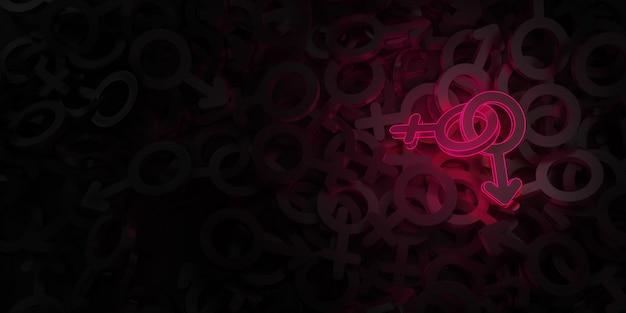 Symbole żeńskie i męskie