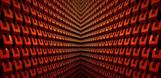 Symetria architektoniczne linie w kolorze miedziano-czerwonym