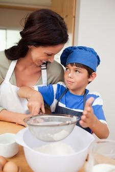 Syn i matka do pieczenia