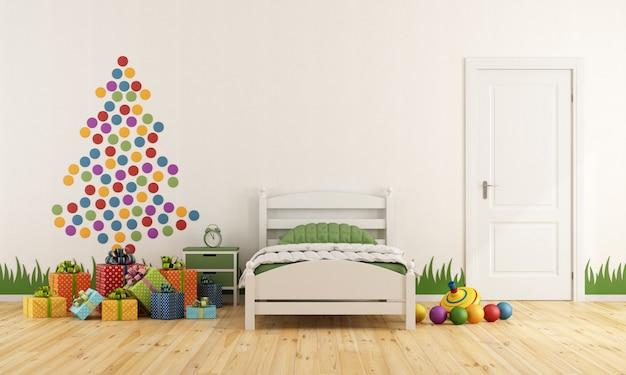 Sypialnia dziecka z choinką