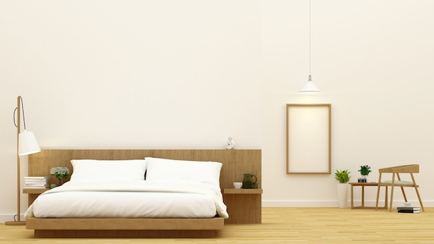 Sypialnia i jadalnia dla kondominium i hotelu projekta - 3d rendering