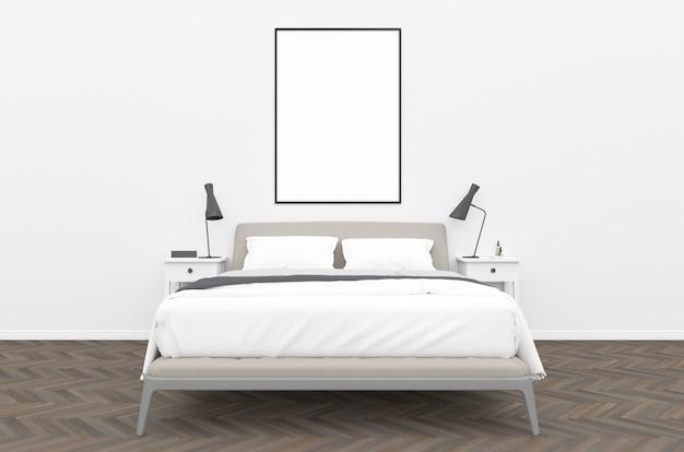 Sypialnia - mockup w kształcie pionowym
