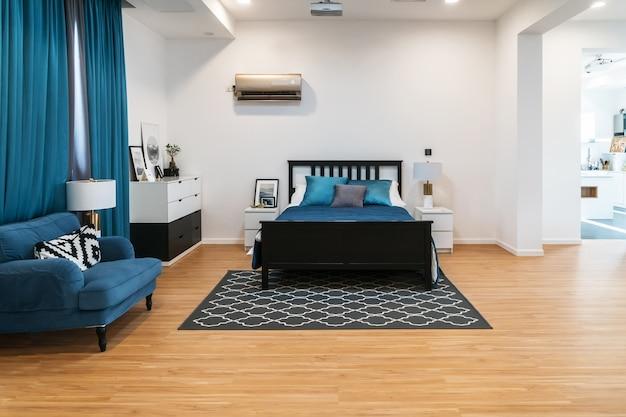 Sypialnia, nowoczesny wystrój