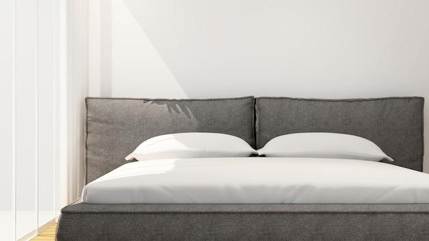 Sypialnia w hotelu lub domu w słoneczny dzień