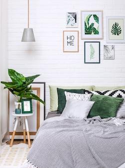 Sypialnia wnętrza domu stylu obrazu żyrandolowy kwiat