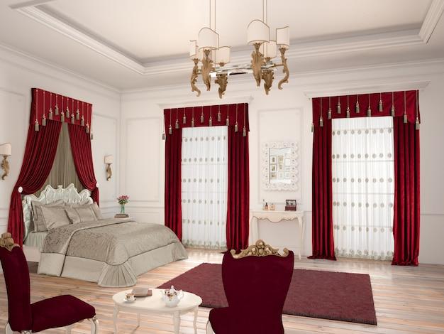 Sypialnia z dekoracją