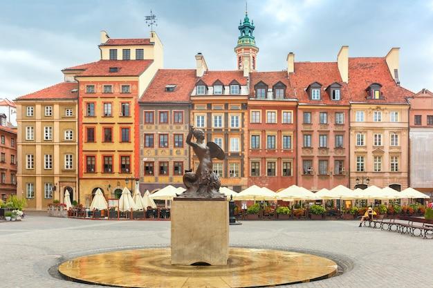 Syrena warszawska na rynku, polska.