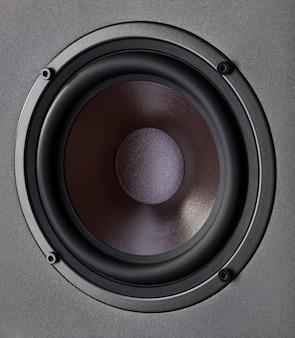 System akustyczny. głośnik niskotonowy, zbliżenie.