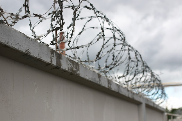 System bezpieczeństwa za pomocą ogrodzeń z drutu na ogrodzeniu