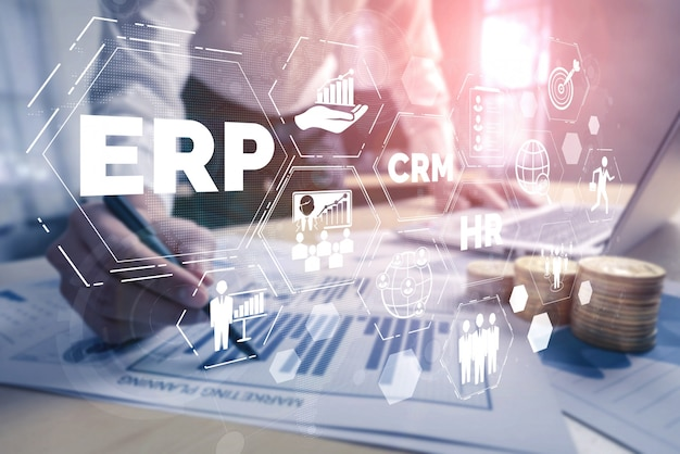 System erp do zarządzania zasobami przedsiębiorstwa dla planu zasobów biznesowych