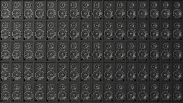 System głośników z koncepcją muzyczną. scena ciemne światło cyber jasnoniebieski i różowy, przestrzeń do pracy lub sztuka backgroung. renderowanie 3d.
