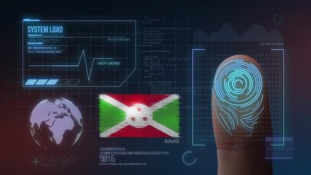 System identyfikacji biometrycznej skanowania odcisków palców. narodowość burundi