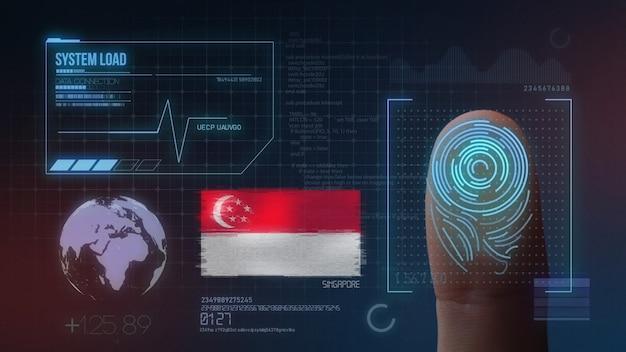 System identyfikacji biometrycznej skanowania odcisków palców. narodowość singapurska