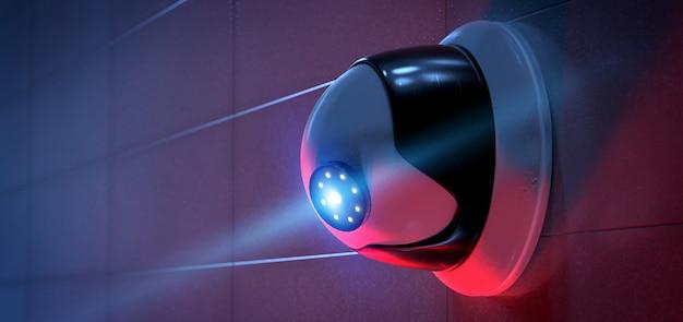 System kamer bezpieczeństwa cctv - renderowanie 3d