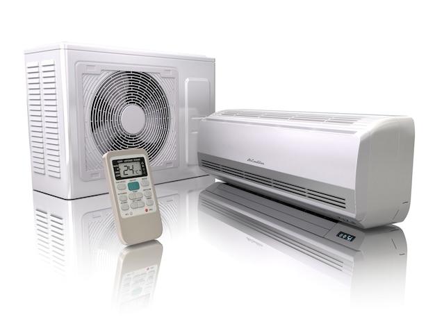 System klimatyzacji na białym tle. 3d