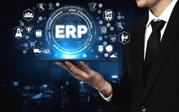 System oprogramowania erp do zarządzania zasobami przedsiębiorstwa dla planu zasobów biznesowych