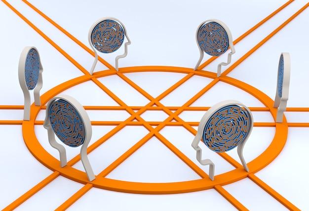 Systemy sieciowe ai. technologia sieci web tło. renderowanie 3d