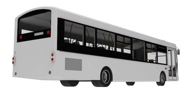 Szablon biały autobus miasta