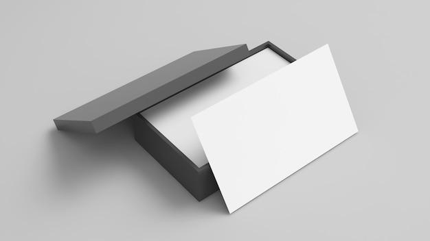 Szablon do brandingu tożsamości. nazwa karty, makieta wizytówki na białym tle, renderowanie 3d