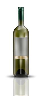 Szablon Etykiety Butelki Wina Premium Zdjęcia