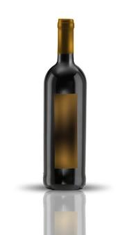 Szablon etykiety butelki wina