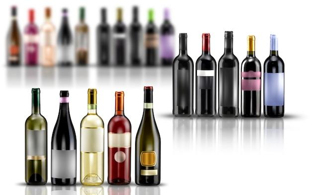 Szablon etykiety na butelki wina
