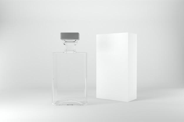 Szablon makiety 3d renderowanych butelek