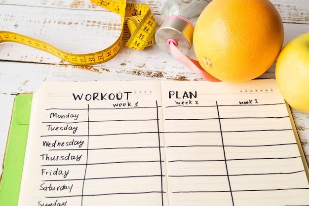 Szablon planu treningu w nowoczesnym stylu
