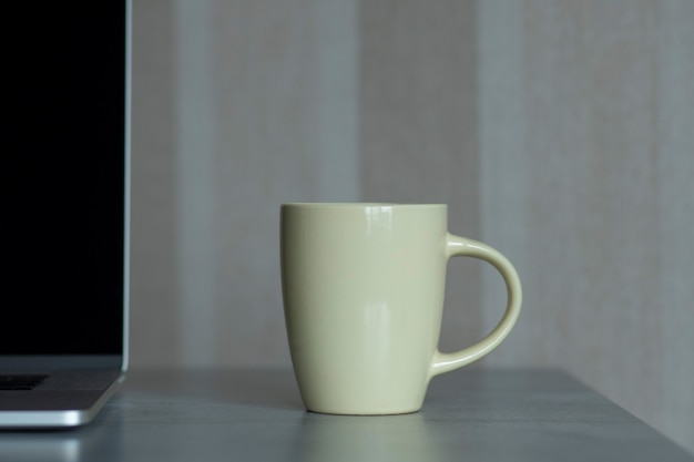 Szablon projektu drukowania pusty kubek