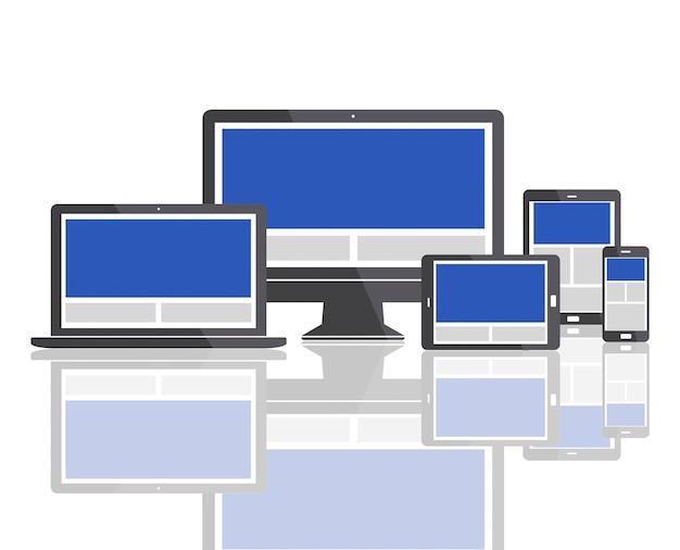 Szablon projektu strony internetowej kopiuj koncepcję przestrzeni