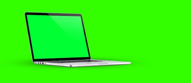 Szablon pustego ekranu laptopa