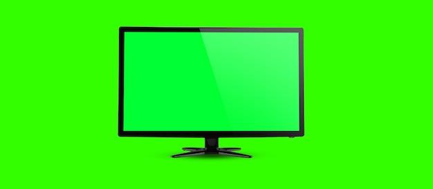 Szablon pustego ekranu na komputer stacjonarny lub komputerowy