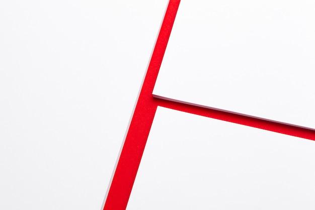 . szablon tożsamości marki. . czerwony i biały