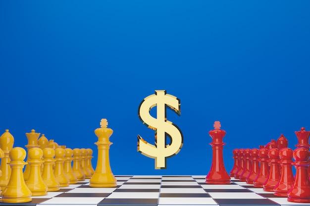 Szachowa gra planszowa dla pomysłów, konkurencji i strategii