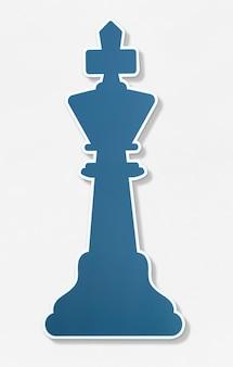 Szachowa ikona rozdziela wektorową ilustrację