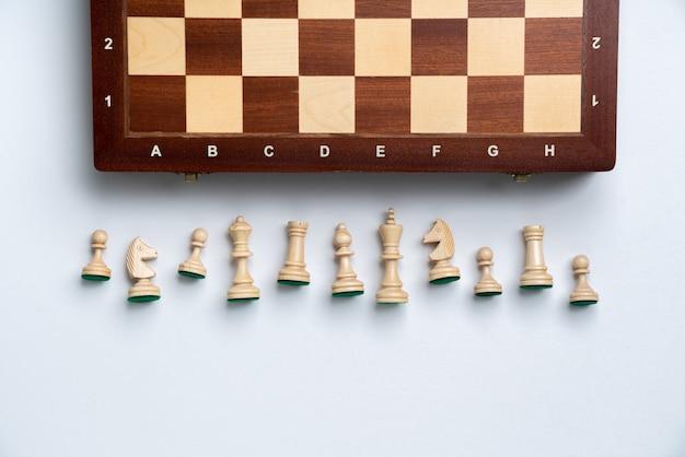 Szachy online i strategia biznesowa koncepcja z góry
