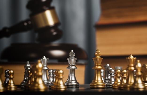 Szachy w prywatnym biurze prawnika