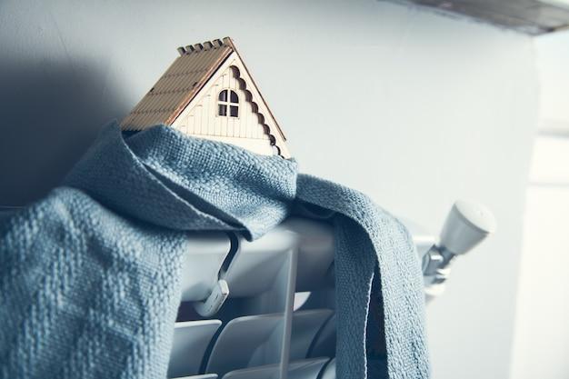 Szalik i domek w systemie grzewczym