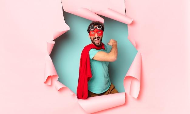 Szalony superbohater dumny z wypowiedzi