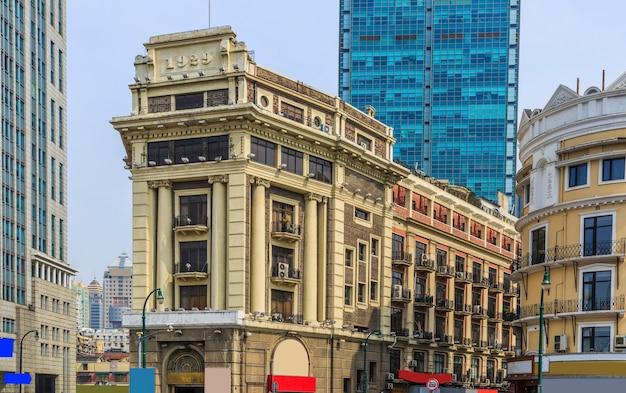 Szanghaj bund stary krajobraz budynku