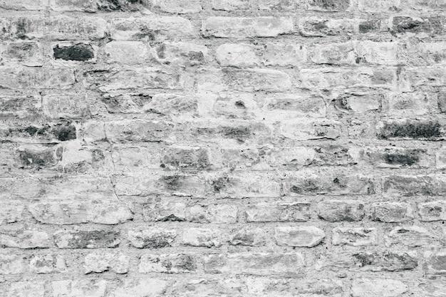 Szara ściana z cegieł tekstura jako tło