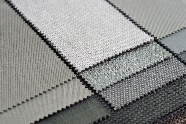 Szara tkanina tekstura tło
