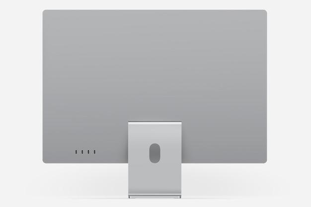 Szare, minimalne urządzenie cyfrowe na komputer stacjonarny z przestrzenią projektową