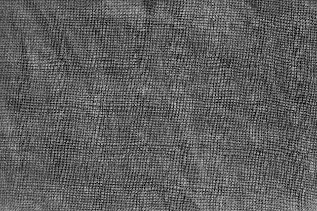 Szare płótno lniane. obraz tła, tekstura. naturalna lniana tekstura w tle.