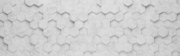 Szare sześciokątne płytki 3d wzór tła