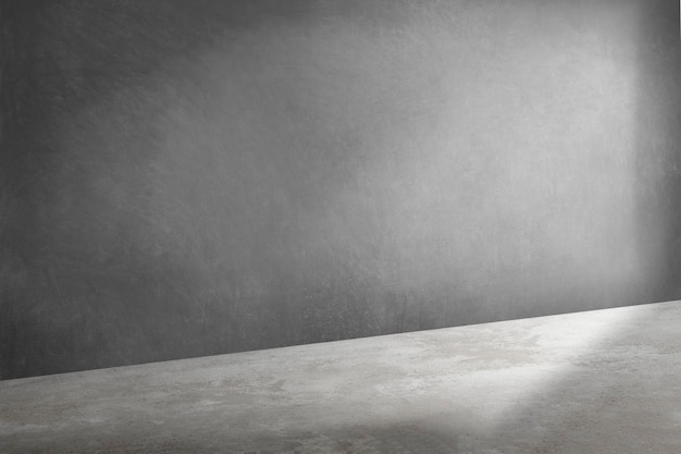 Szare tło produktu 3d w stylu loftu z cieniem