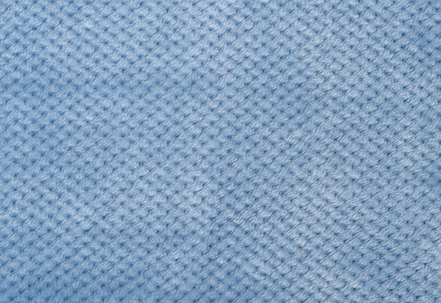 Szaro-niebieski plusz, tkanina do szycia ubrań, z bliska