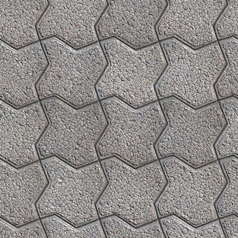 Szary chodnik wyobrażony jako zakrzywiony plac. mały rozmiar. bezszwowa tileable tekstura.