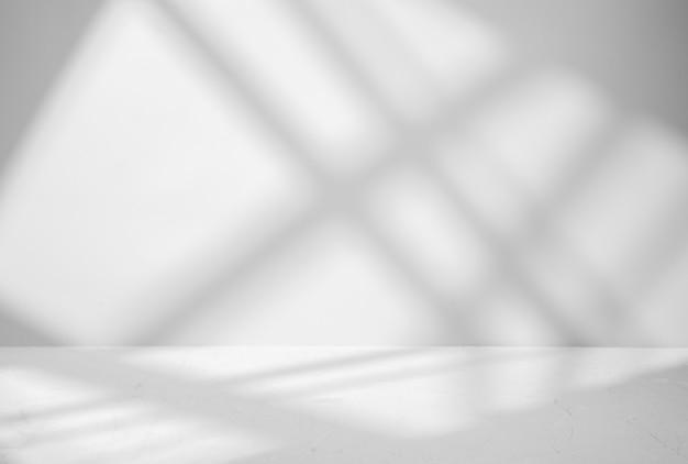 Szary do prezentacji produktów z cieniem i światłem z okien